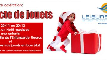 "1ère Action ""Récolte de jouets"" par Leisure Pools"