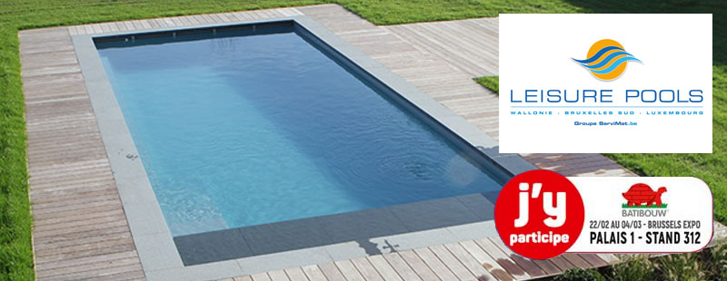 Les piscines Leisure Pools sur Batibouw 2018
