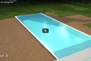 Animation placement piscine en 4 jours en 3D